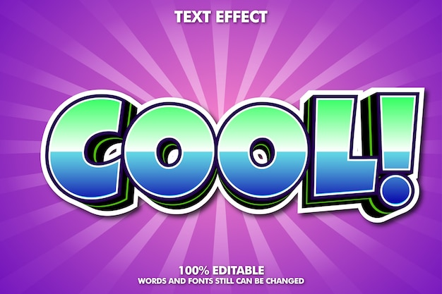 Efekt tekstowy - fajny efekt tekstowy z kreskówek