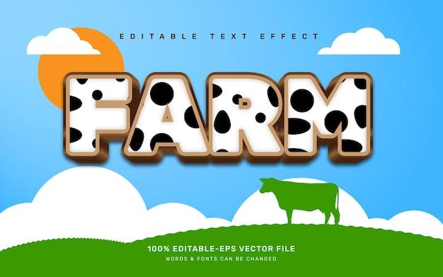 Efekt tekstowy farmy