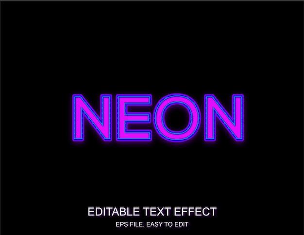 Efekt tekstowy fioletowy neon