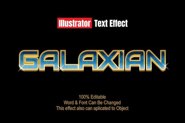Efekt tekstowy galaxy
