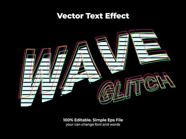 Efekt tekstowy glitch retro fala