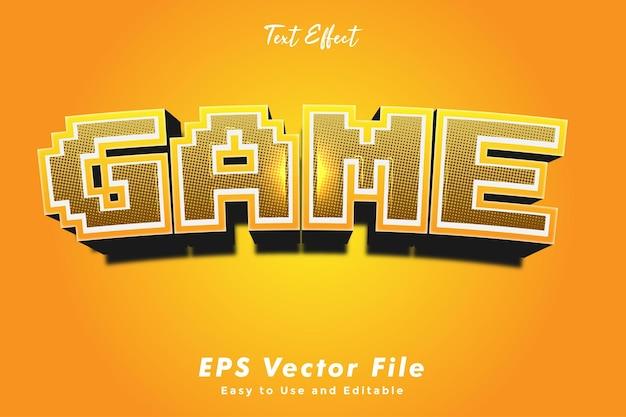 Efekt tekstowy - gra. edytowalny styl czcionki