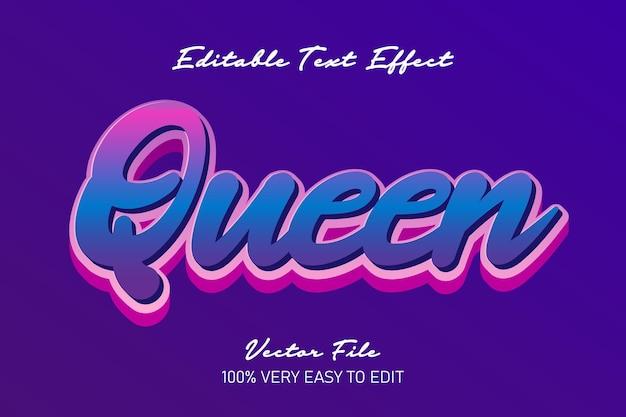 Efekt tekstowy gradientu królowej