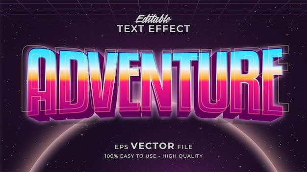 Efekt tekstowy gry kosmicznej edytowalny retro futurystyczny styl tekstu