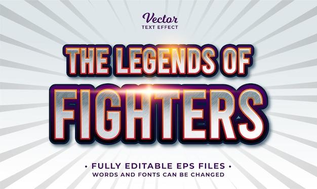 Efekt tekstowy gry walki edytowalny eps cc
