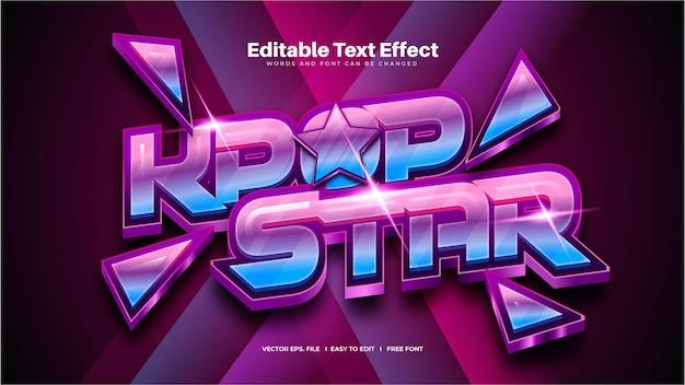 Efekt tekstowy gwiazdy k-pop