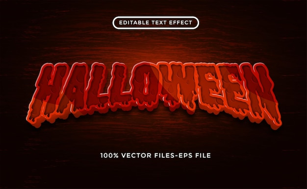 Efekt tekstowy halloween premium wektor