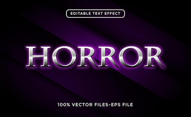 Efekt tekstowy horroru premium wektorów