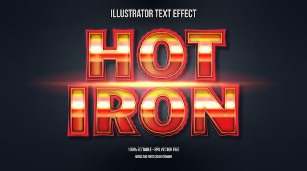 Efekt tekstowy hot iron 3d