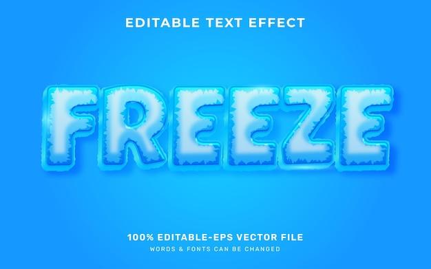 Efekt tekstowy ice freeze