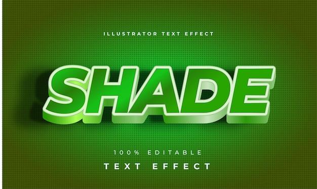 Efekt tekstowy ilustratora cieniowania