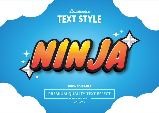 Efekt tekstowy ilustratora ninja