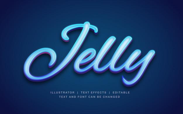 Efekt tekstowy jelly blue light