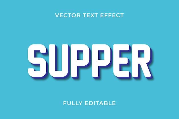Efekt tekstowy kolacji
