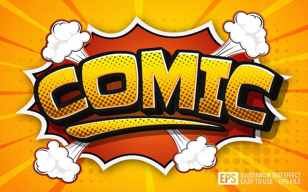Efekt tekstowy komiks edytowalny szablon efektu stylu