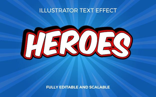 Efekt tekstowy komiksu 3d superbohaterowie w tytule