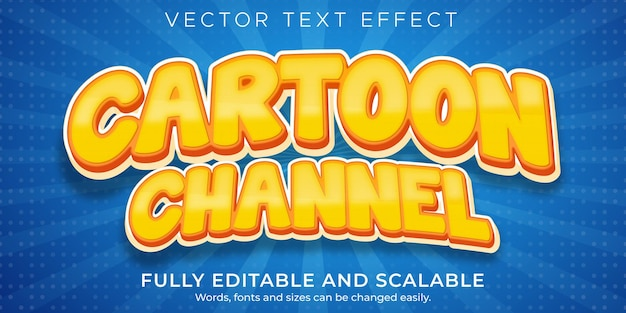Efekt tekstowy kreskówki, komiksowy edytowalny styl tekstu