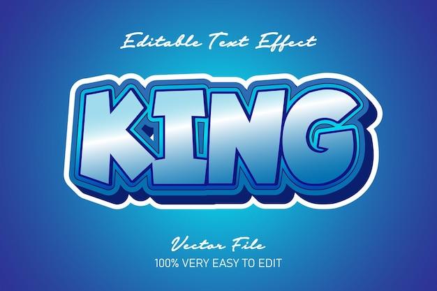 Efekt tekstowy kreskówki króla