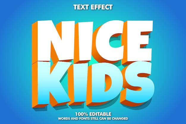 """Efekt tekstowy kreskówki """"ładne dzieci"""" 3d"""
