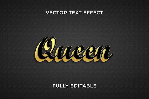 Efekt tekstowy królowej