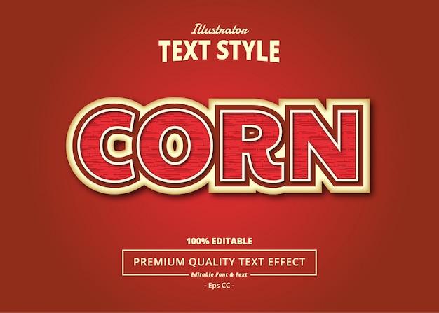 Efekt tekstowy kukurydzy