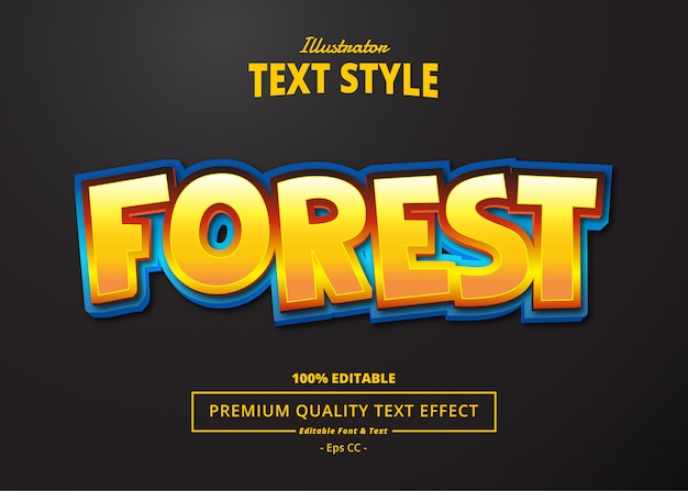 Efekt tekstowy lasu