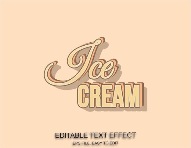 Efekt tekstowy lodów