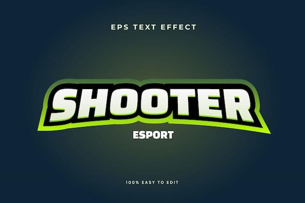Efekt tekstowy logo e-sportowego zielonego logo