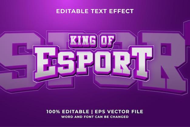 Efekt tekstowy logo turnieju e-sportowego premium vector