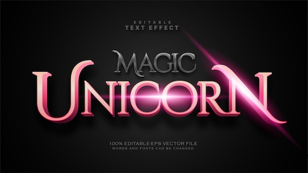 Efekt tekstowy magicznego jednorożca