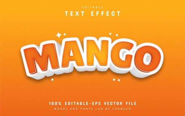 Efekt tekstowy mango