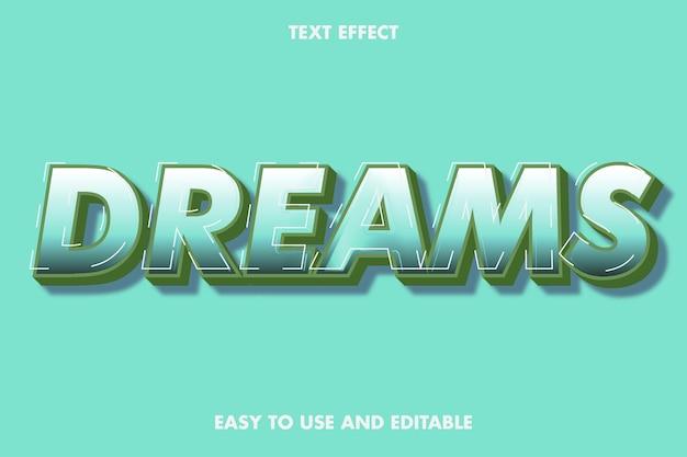 Efekt tekstowy marzeń. edytowalny styl czcionki.
