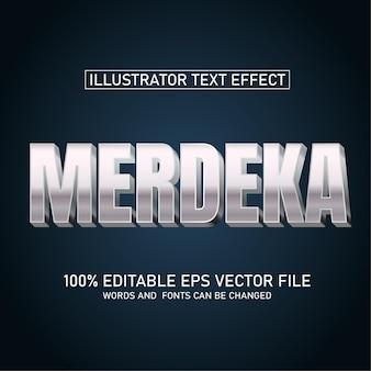 Efekt tekstowy merdeka premium