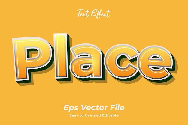 Efekt tekstowy miejsce edytowalny i łatwy w użyciu wektor premium