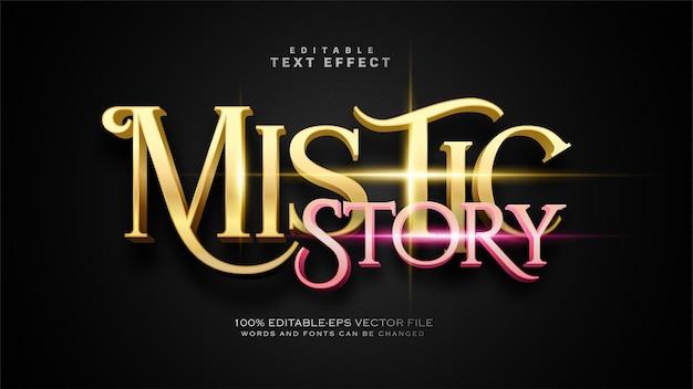 Efekt tekstowy mistycznej historii