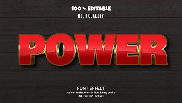 Efekt tekstowy mocy