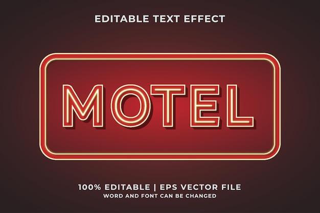 Efekt tekstowy motelu premium wektorów