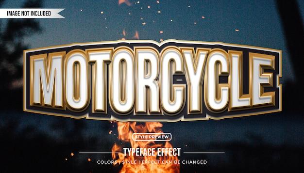 Efekt tekstowy motocykla