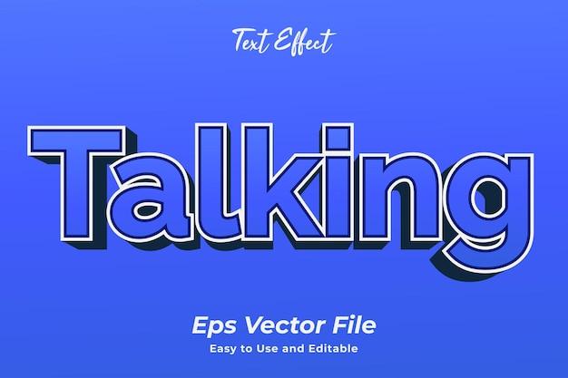 Efekt tekstowy mówiący edytowalny i łatwy w użyciu wektor premium