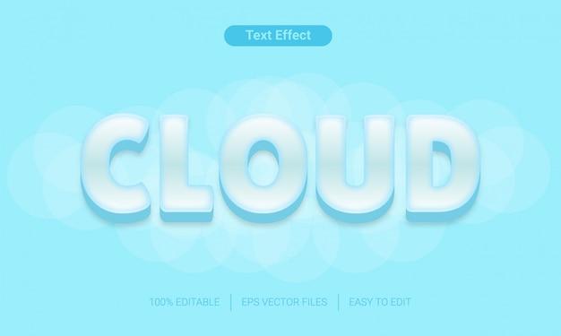 Efekt tekstowy niebo chmury