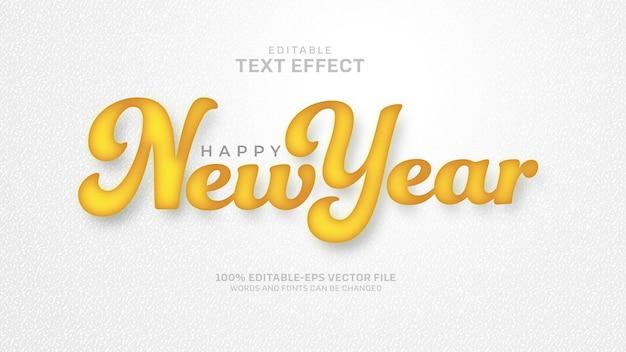 Efekt tekstowy nowego roku