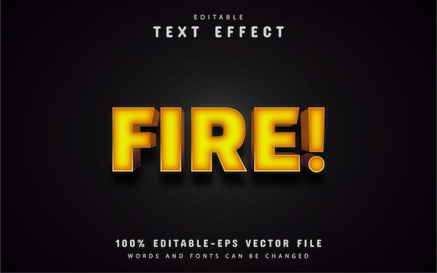 Efekt tekstowy ognia
