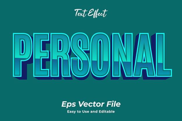 Efekt tekstowy osobisty edytowalny i łatwy w użyciu wektor premium