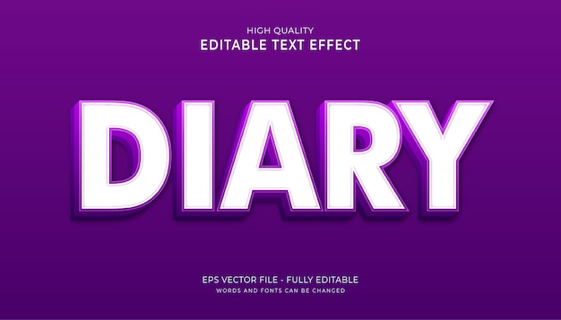 Efekt tekstowy pamiętnika.