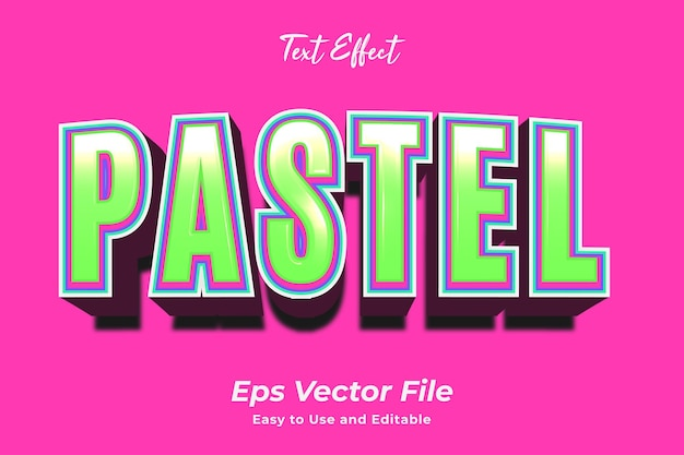 Efekt tekstowy pastelowy edytowalny i łatwy w użyciu wektor premium