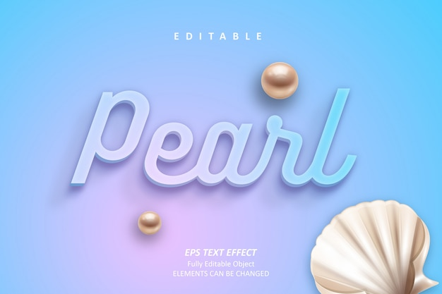 Efekt tekstowy pearl coral można edytować