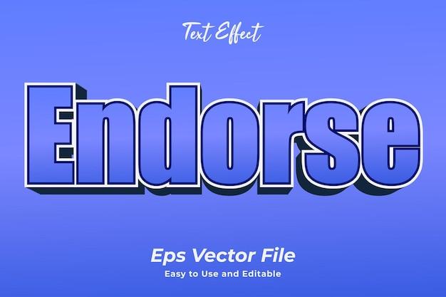 Efekt tekstowy potwierdza edytowalny i łatwy w użyciu wektor premium