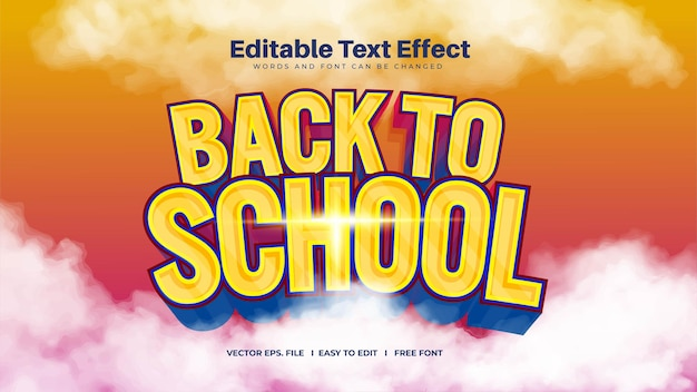 Efekt tekstowy powrót do szkoły to