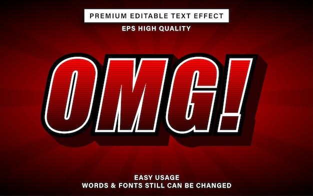Efekt tekstowy premium omg
