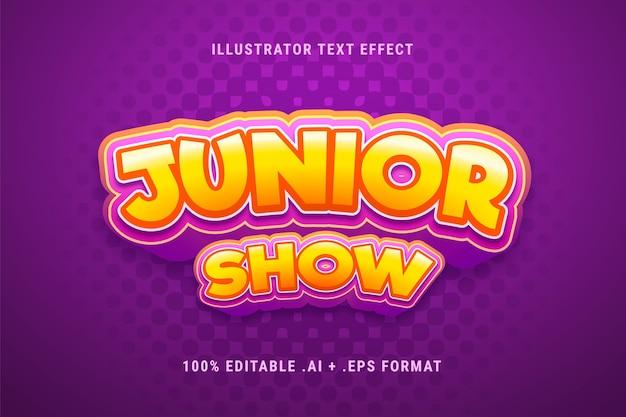Efekt tekstowy programu junior